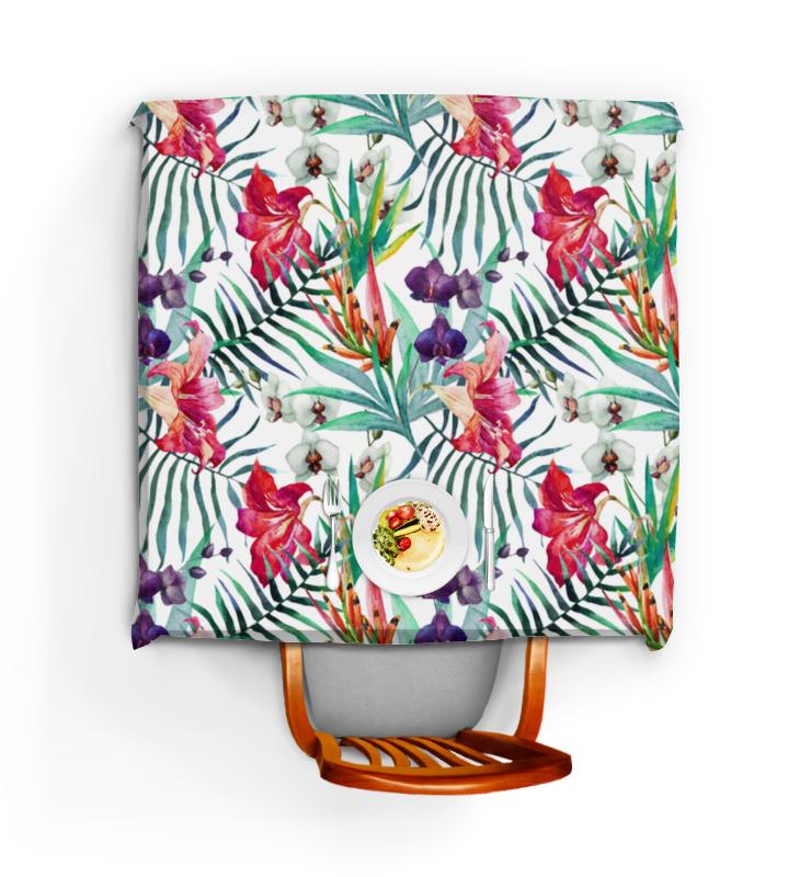 Скатерть квадратная Printio Тропические цветы
