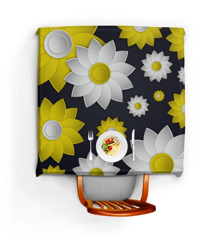 Скатерть квадратная Printio Цветы цветы