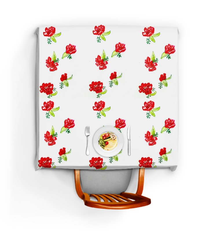 Скатерть квадратная Printio Скатерть красные цветы скатерть duni romance 84х84 см красные розы