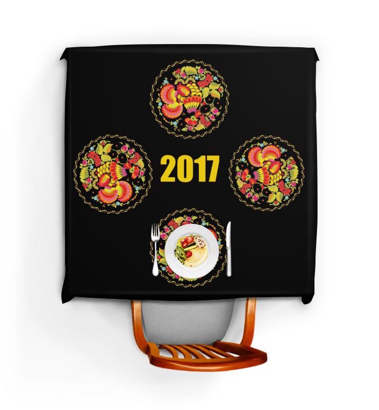 Скатерть квадратная Printio 2017 - год красного петуха