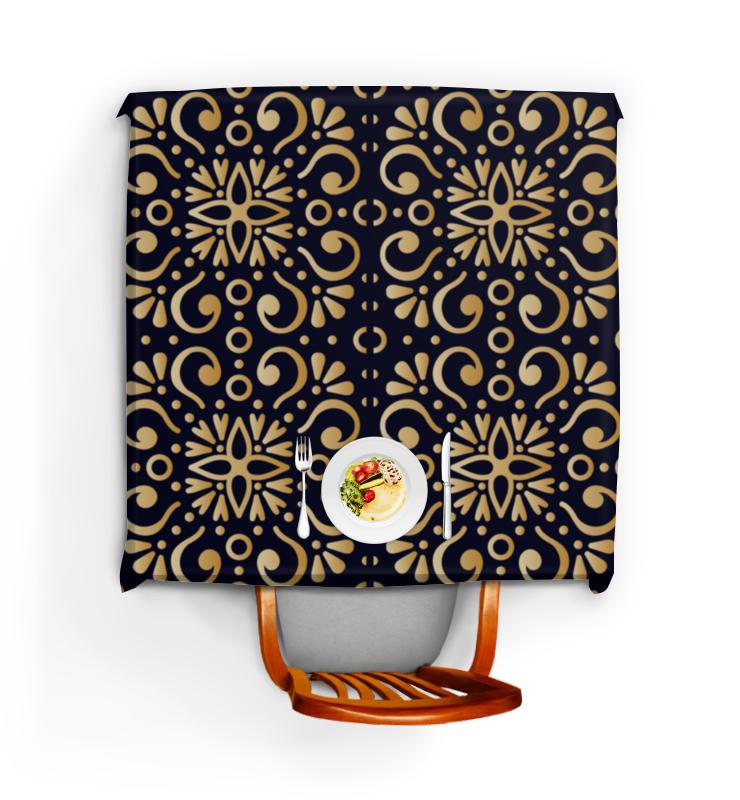 Скатерть квадратная Printio Цветочное золото все цены