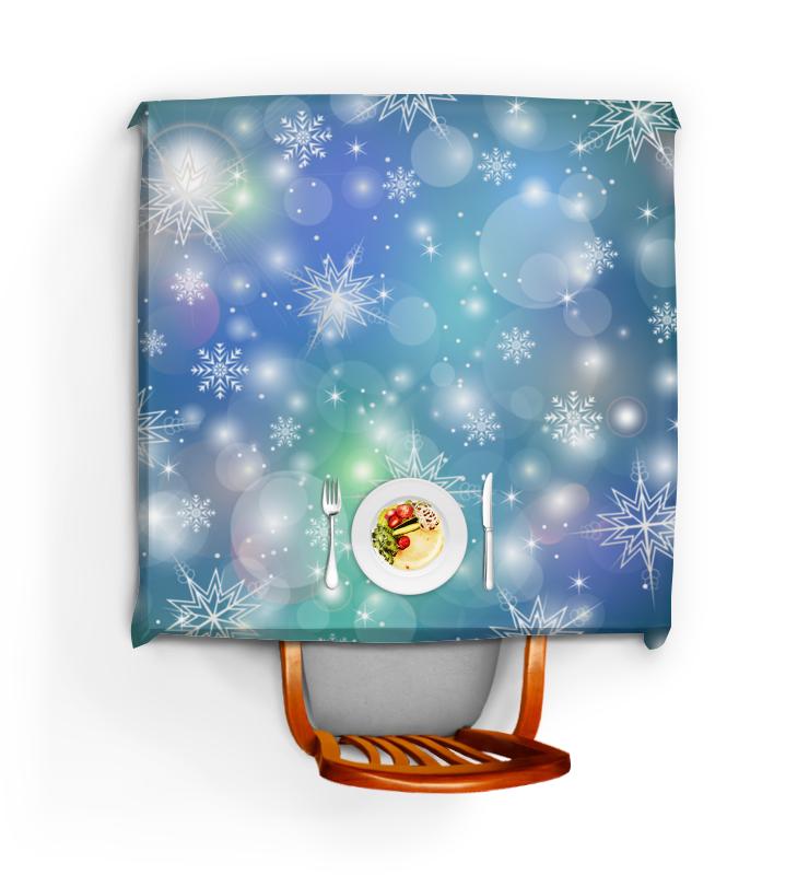 Скатерть квадратная Printio Снежинка волшебная снежинка