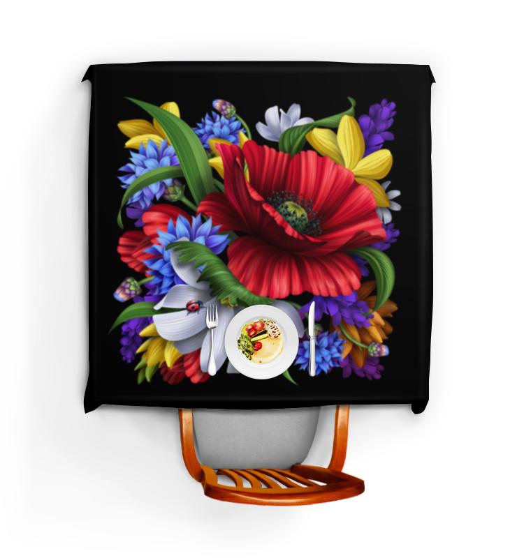 Скатерть квадратная Printio Композиция цветов композиция из цветов жду свидания
