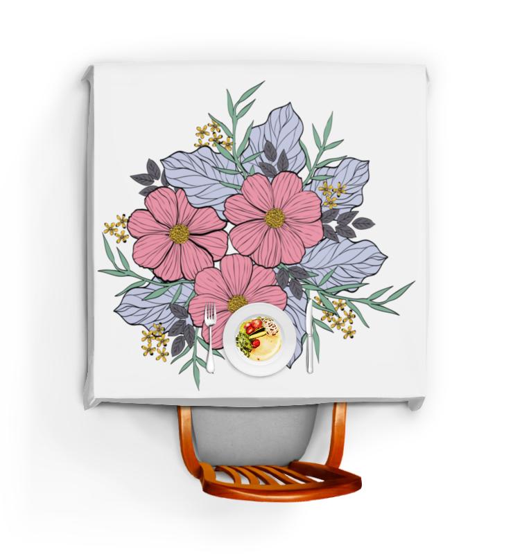 Скатерть квадратная Printio Цветы скатерть квадратная printio нежные цветы