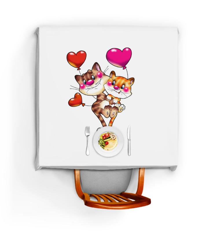 все цены на Скатерть квадратная Printio Любовь онлайн