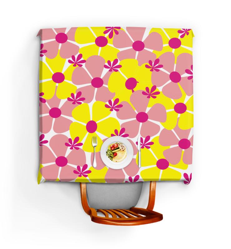 Скатерть квадратная Printio Яркие цветы скатерть квадратная printio нежные цветы