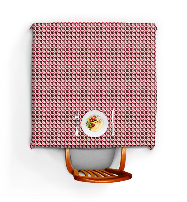 все цены на Скатерть квадратная Printio Сердечки онлайн