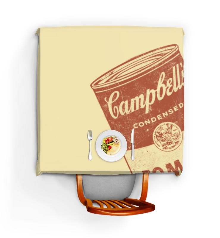 Скатерть квадратная Printio Банка с супом кэмпбелл свитшот унисекс с полной запечаткой printio банка с супом кэмпбелл