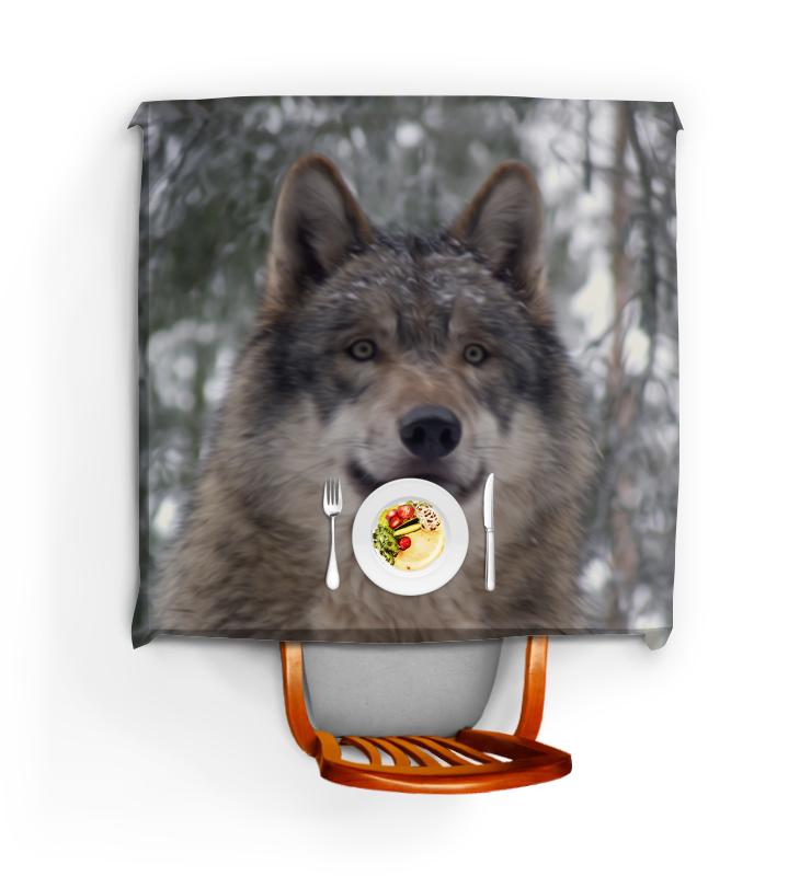 Скатерть квадратная Printio Волк в лесу цена и фото