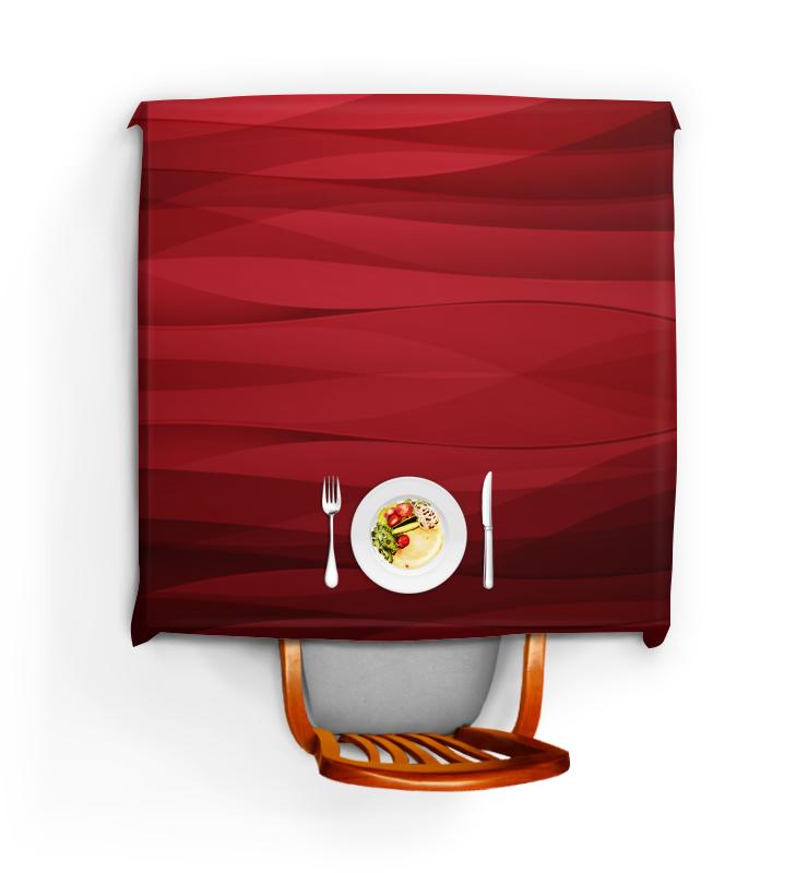 Скатерть квадратная Printio Красная абстракция скатерть квадратная printio 2017 год красного петуха