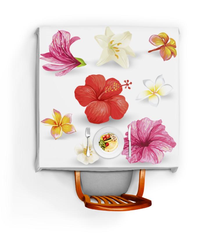 Скатерть квадратная Printio Цветы цена и фото