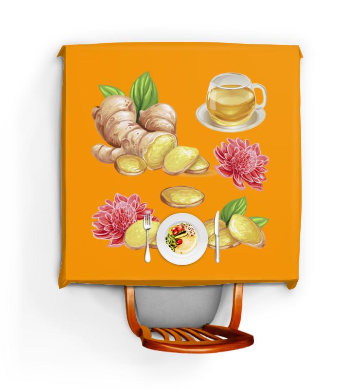 Скатерть квадратная Printio Имбирь и цветы скатерть квадратная printio имбирь и цветы
