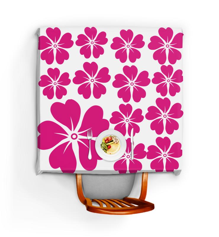 Скатерть квадратная Printio Розовый цветок скатерть quelle эго 1024295 120х150