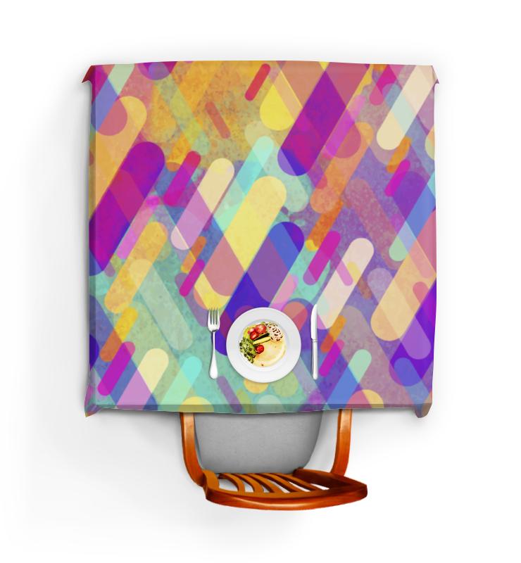 Скатерть квадратная Printio Разноцветная абстракция