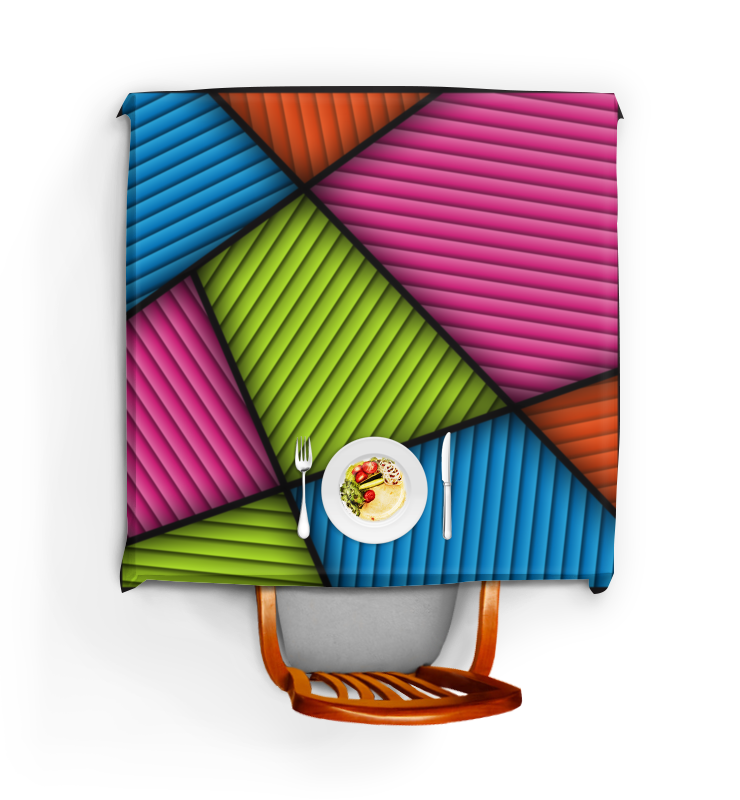 Скатерть квадратная Printio Цветная абстракция скатерть quelle эго 1024295 120х150