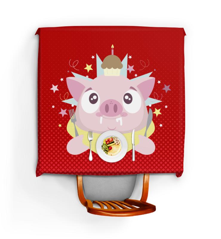 все цены на Скатерть квадратная Printio Свинья онлайн