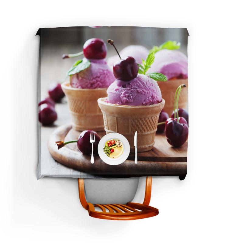 Скатерть квадратная Printio Мороженное с вишней вкуснотеево йогурт с вишней 3 5