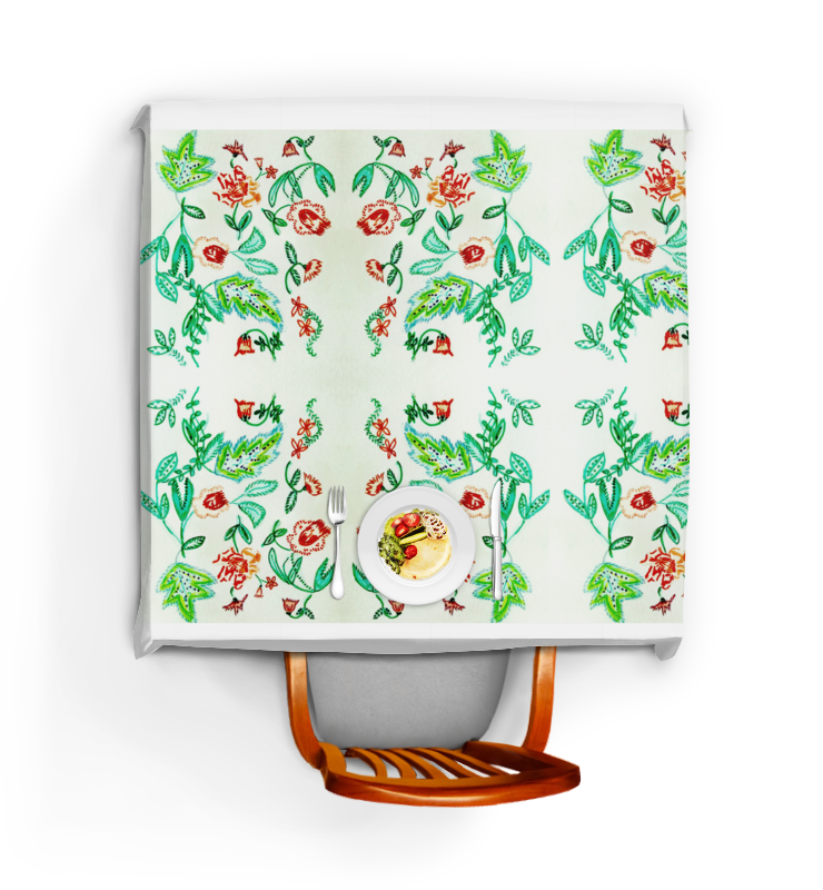 Скатерть квадратная Printio Дикие цветы цена и фото