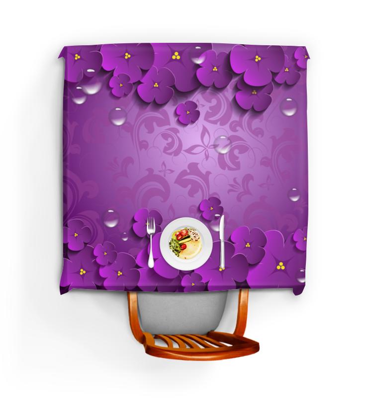 Printio Цветы майка борцовка print bar янтра на фиолетовом фоне