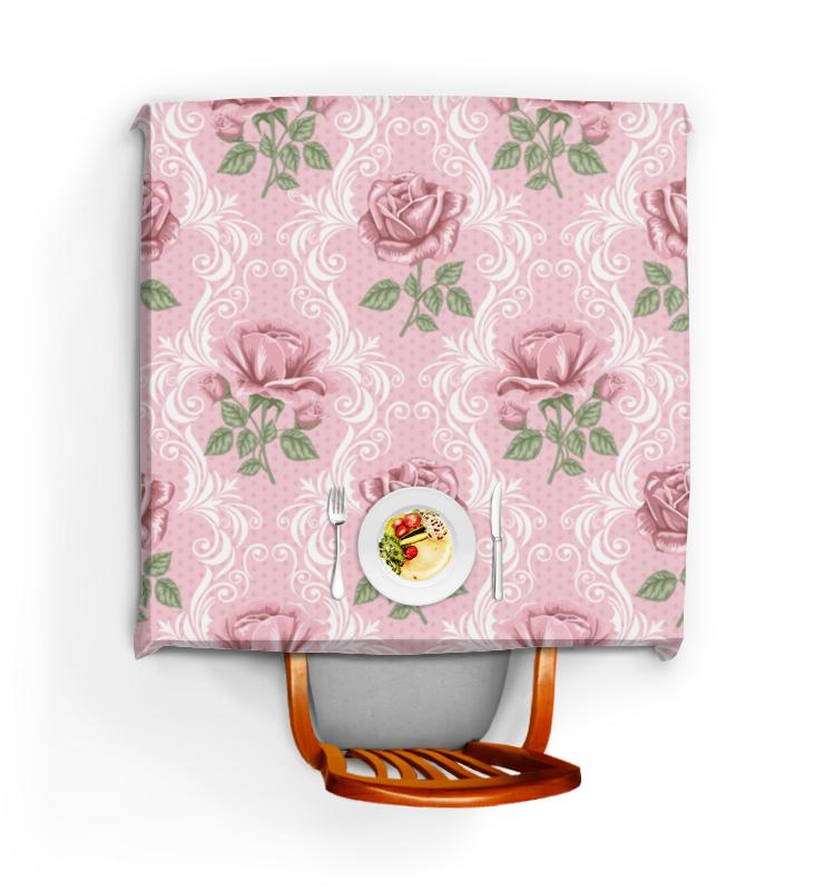 Скатерть квадратная Printio Розы (цветы) скатерть quelle эго 1024295 120х150