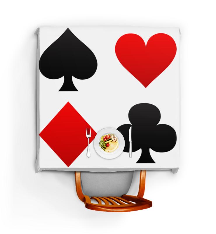 Скатерть квадратная Printio Масти чехол для игральных карт bicycle цвет красный