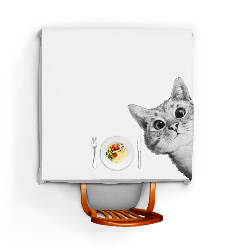 Скатерть квадратная Printio Любопытный кот футболка стрэйч printio любопытный кот