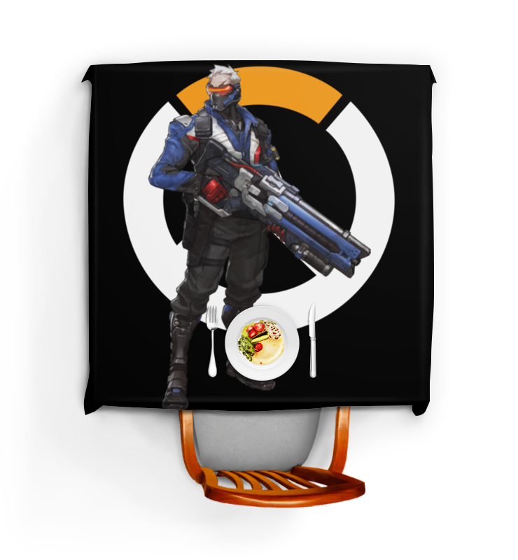 Скатерть квадратная Printio Overwatch soldier 76 / овервотч солдат 76
