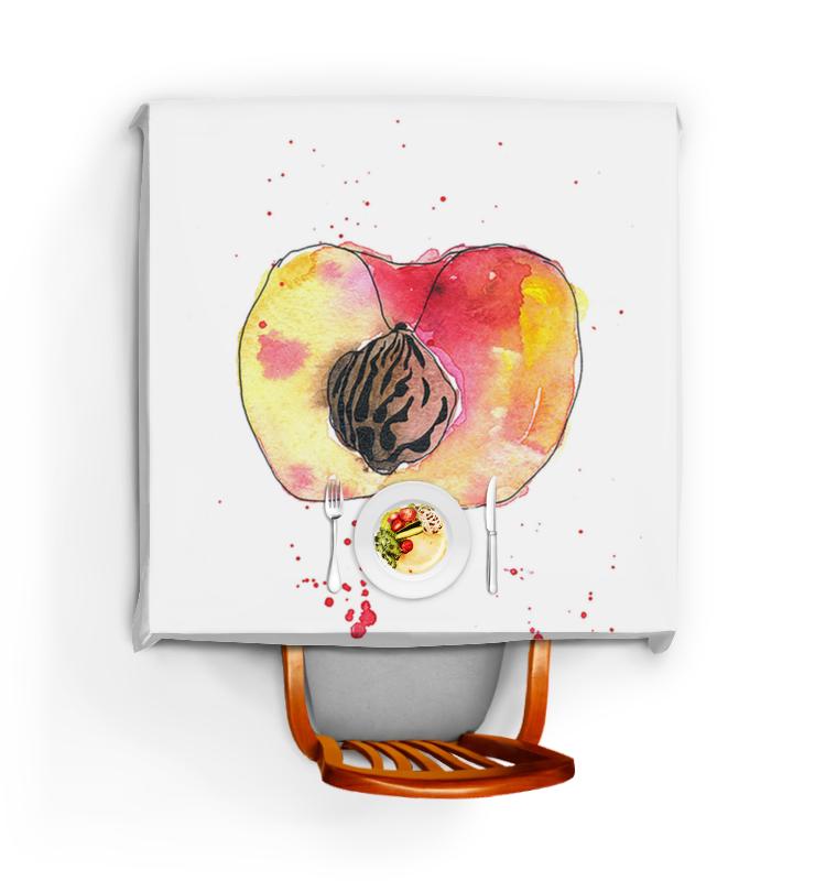 Скатерть квадратная Printio Персик покрывало трикотажное персик
