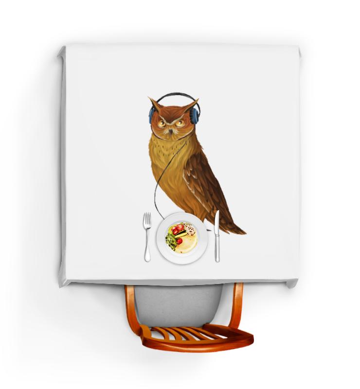 Скатерть квадратная Printio Сова в наушниках конверт средний с5 printio сова в наушниках