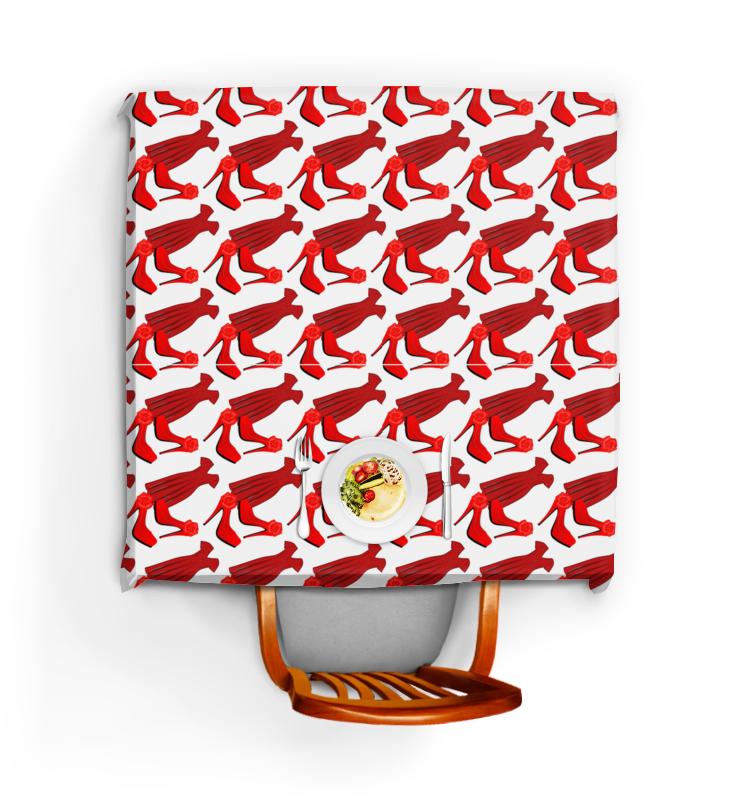 Скатерть квадратная Printio Бесшовные фактуры, паттерны - стиль, красный