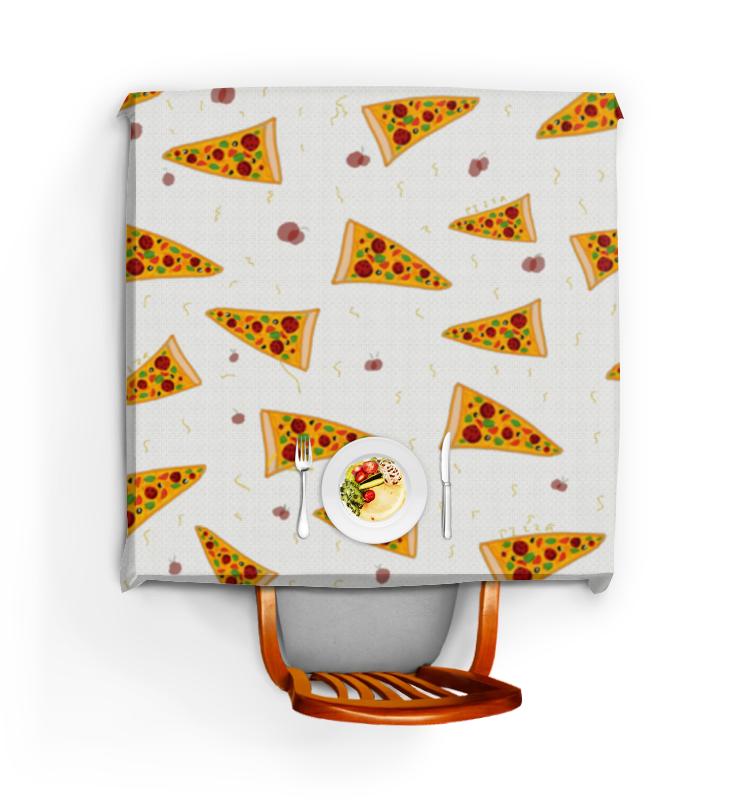 Скатерть квадратная Printio Кусочки пиццы еда