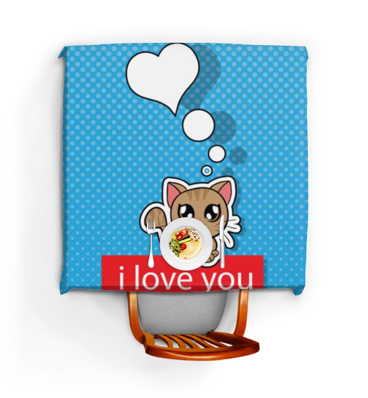 Скатерть квадратная Printio Влюблённый котик скатерть quelle эго 1024295 120х150