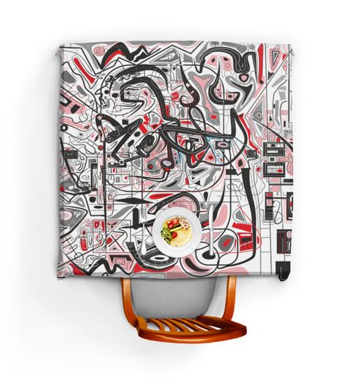 """Скатерть квадратная """"Mamewax"""" - арт, узор, абстракция, фигуры, медитация"""