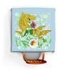 """Скатерть квадратная """"Влюбленные рыбки"""" - любовь, цветок, подарок, золотая рыбка, рыбка-конек"""