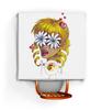 """Скатерть квадратная """"Без ума от цветов"""" - любовь, девушка, цветы, сердца, блондинка"""