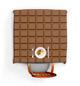 """Скатерть квадратная """"Шоколад"""" - шоколад, еда"""