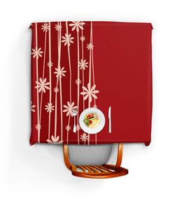 """Скатерть квадратная """"Красная поляна"""" - цветы, узор, стиль, рисунок, цветочный"""