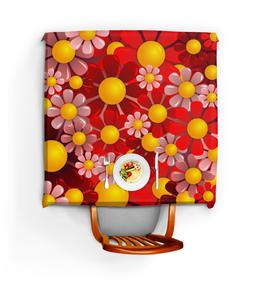 """Скатерть квадратная """"Ромашки"""" - красиво, цветы, ярко, ромашки, красивые цветы"""
