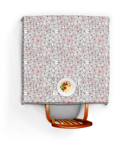 """Скатерть квадратная """"Нежные цветы"""" - стиль, этно, нежно, уют, тепло"""