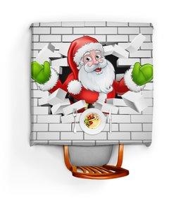 """Скатерть квадратная """"Санта Клаус"""" - новый год, санта клаус, 2019"""
