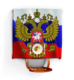 """Скатерть квадратная """"Флаг-герб России"""" - россия, герб, политика, флаг"""