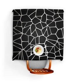 """Скатерть квадратная """"Металлическая абстракция"""" - узор, абстрактный, сетка, металлический, карбоновый"""