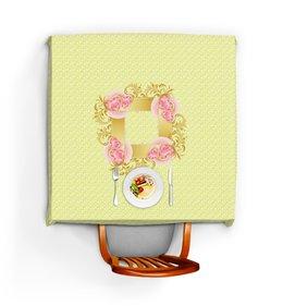 """Скатерть квадратная """"Влюбленные сердца. Подарок на свадьбу"""" - любовь, свадьба, сердечки, свадебный подарок"""