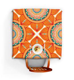 """Скатерть квадратная """"Мандала"""" - мандала, индуизм, буддизм, символы, цветочный"""
