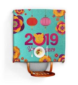 """Скатерть квадратная """"Новый год"""" - новый год, свинья, 2019"""