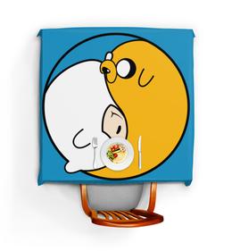 """Скатерть квадратная """"Adventure Time / Время Приключений"""" - время приключений, adventure time, финн, джейк"""