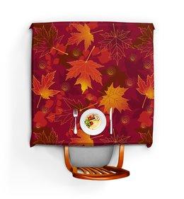 """Скатерть квадратная """"ЛИСТОПАД"""" - стиль, осень, красота, яркость, кленовые листья"""