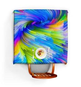 """Скатерть квадратная """"Abstract Rainbow"""" - радуга, цвета, краски, абстракция"""