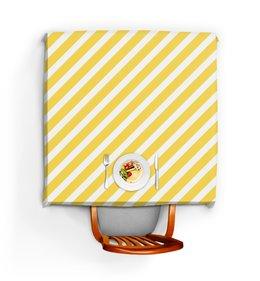 """Скатерть квадратная """"Полосатая"""" - узор, желтый, стильный, абстрактный, полосатый"""