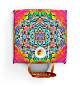 "Скатерть квадратная ""Mandala HD2"" - узор, ретро, классика, этно, симметрия"